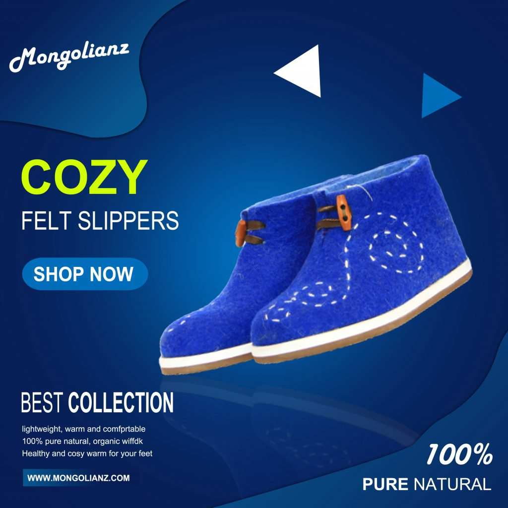 Cozy felt slippers